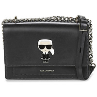 Bags Women Shoulder bags Karl Lagerfeld K/IKONIK METAL LOCK SHLDERBAG Black