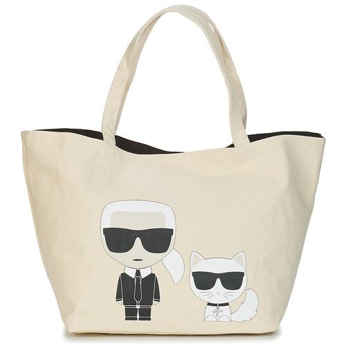 Bags Women Shopper bags Karl Lagerfeld K/IKONIK KARL & CHOUPETTE TOTE Black
