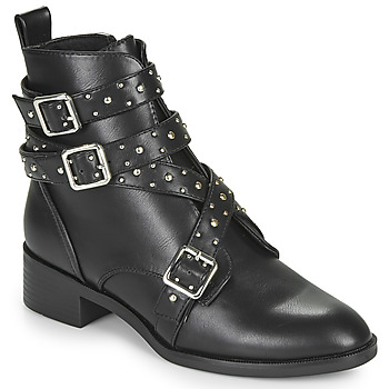 Shoes Women Mid boots Only BRIGHT 14 PU STUD BOOT Black