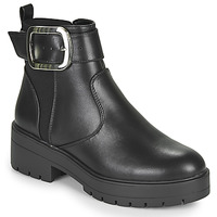 Shoes Women Mid boots Only BRANKA-5 PU BUCKLE BOOT Black