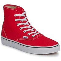 Shoes Women High top trainers Vans AUTHENTIC HI Red