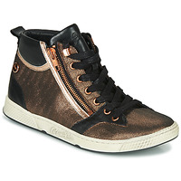 Shoes Women High top trainers Pataugas JULIA/MIX F4F Pink / Gold / Black