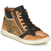 Shoes Women High top trainers Pataugas JULIA/PO F4F Cognac / Leopard