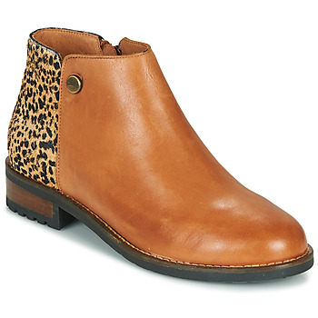 Shoes Women Mid boots Pataugas MEGAN/PO F4F Camel