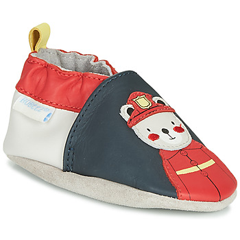 Shoes Boy Slippers Robeez FIREMAN Marine / Red