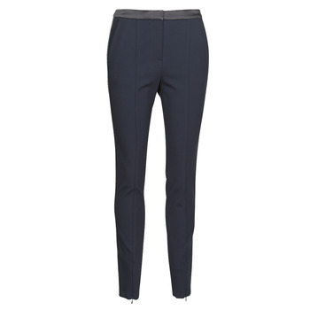 material Women 5-pocket trousers Karl Lagerfeld PUNTO PANTS W/ LOGO TAPE Marine / Black