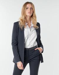material Women Jackets / Blazers Karl Lagerfeld PUNTO JACKET W/ SATIN LAPEL Marine / Black
