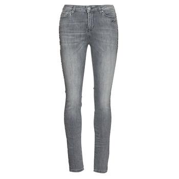 material Women slim jeans Karl Lagerfeld SKINNY DENIMS W/ CHAIN Grey