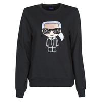 material Women sweaters Karl Lagerfeld IKONIK KARL SWEATSHIRT Black