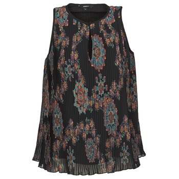 material Women Tops / Sleeveless T-shirts Desigual MIRA Blue