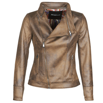 material Women Leather jackets / Imitation leather Desigual SVEN Brown