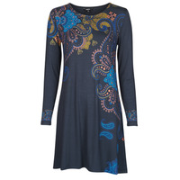 material Women Short Dresses Desigual WASHINTONG Blue