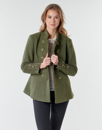 material Women coats Cream ANNABELL SHORT COAT Green
