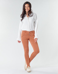 material Women 5-pocket trousers Cream HOLLY CR TWILL Brown