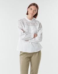 material Women Blouses Cream SALANA BLOUSE White