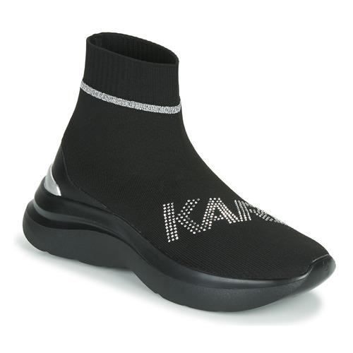 Shoes Women High top trainers Karl Lagerfeld SKYLINE KARL RHINESTONE PULL ON BT Black