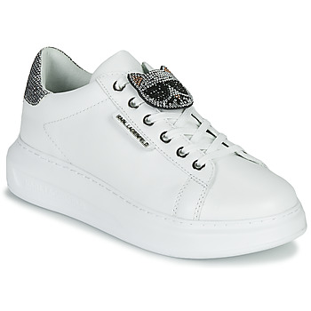 Shoes Women Low top trainers Karl Lagerfeld KAPRI IKONIC TWIN LO LACE White / Leather / Silver
