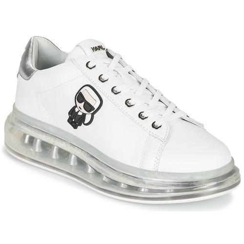 Shoes Women Low top trainers Karl Lagerfeld KAPRI KUSHION KARL IKONIC LO LACE White / Silver