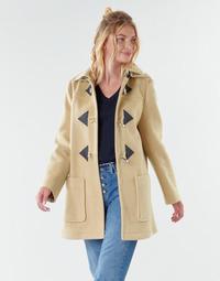 material Women coats Benetton 2BZP53655 Beige