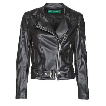 material Women Leather jackets / Imitation leather Benetton 2ALB53673 Black