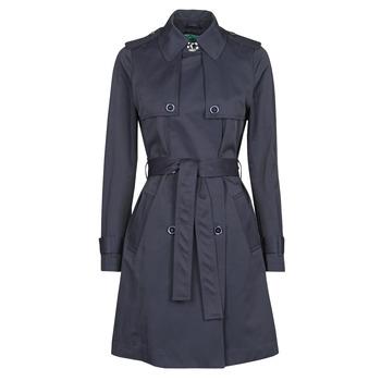material Women Trench coats Benetton 2BIM5K2S3 Marine