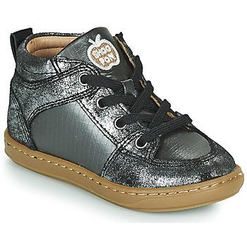 Shoes Girl High top trainers Shoo Pom BOUBA GANG Silver