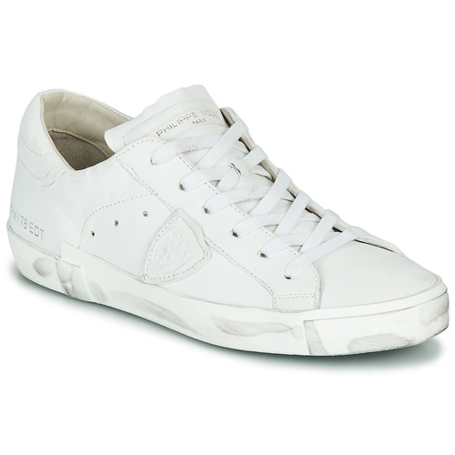 Shoes Women Low top trainers Philippe Model PARIS X BASIC White