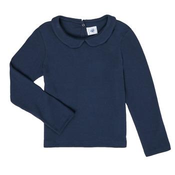 material Girl Long sleeved shirts Petit Bateau LOVING Marine