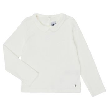 material Girl Long sleeved shirts Petit Bateau LOVING White