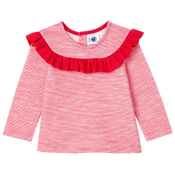 material Girl Long sleeved shirts Petit Bateau LOYALE Red