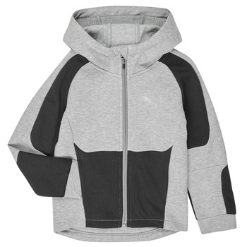 material Boy sweaters Puma EVOSTRIPE HOODED JACKET Grey