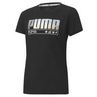 material Girl short-sleeved t-shirts Puma ALPHA TEE 165 Black