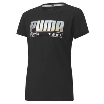 material Girl short-sleeved t-shirts Puma ALPHA TEE 165 Black