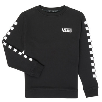 material Children sweaters Vans EXPOSITION CHECK CREW Black