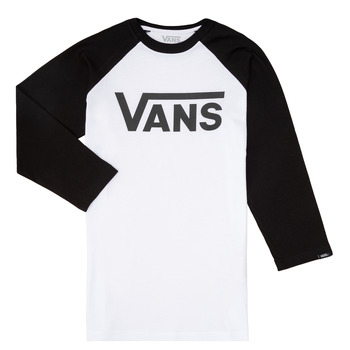 material Boy Long sleeved shirts Vans VANS CLASSIC RAGLAN Black / White