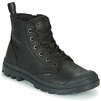 Shoes Mid boots Palladium PAMPA ZIP LTH ESS Black
