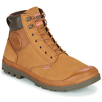 Shoes Men Mid boots Palladium PAMPA SHIELD WP+ LUX Brown
