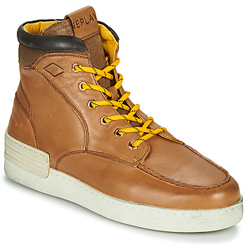 Shoes Men High top trainers Replay PIER BETIZ Cognac / Yellow