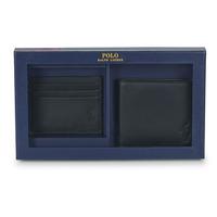 Bags Men Wallets Polo Ralph Lauren Billfold & CardCase Gift Set Black