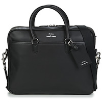 Bags Men Briefcases Polo Ralph Lauren COMMUTER-BUSINESS CASE-SMOOTH LEATHER Black