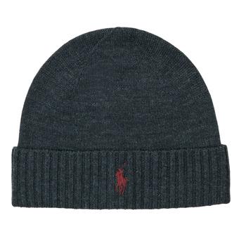 Accessorie Men hats Polo Ralph Lauren Merino Wool Beanie Grey / Dark