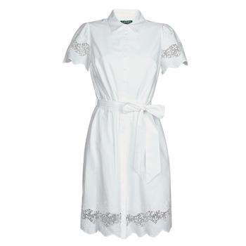 material Women Short Dresses Lauren Ralph Lauren DORTHIA White