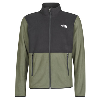 material Men Fleeces The North Face TKA GLACIER FULL ZIP JACKET Taupe / Green / Tnf /  black
