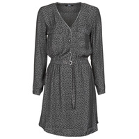 material Women Short Dresses Le Temps des Cerises RABA Grey / Black