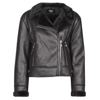 material Women Leather jackets / Imitation leather Le Temps des Cerises BONY Black
