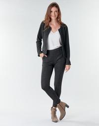 material Women 5-pocket trousers Le Temps des Cerises BIEBER Black