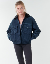 material Women Blouses Volcom ARMY CORD JACKET Blue