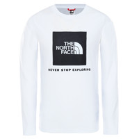 material Boy Long sleeved shirts The North Face NEW BOX LOGO TEE White