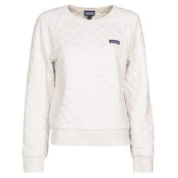 material Women sweaters Patagonia W'S ORGANIC COTTON QUILT CREW Ecru
