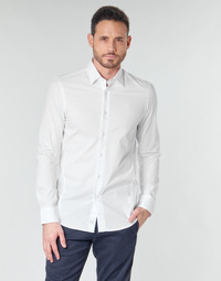 material Men long-sleeved shirts G-Star Raw DRESSED SUPER SLIM SHIRT LS White